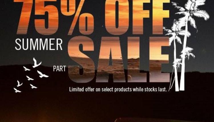 25% - 75% Sale at Adventure HQ, June 2016
