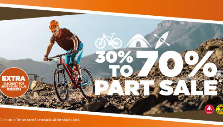 30% - 70% Sale at Adventure HQ, January 2017