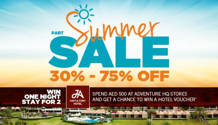 30% - 75% Sale at Adventure HQ, August 2017