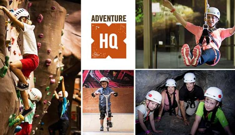 Spend 900 and get a AED 270 spending voucher Offer at Adventure HQ, September 2017