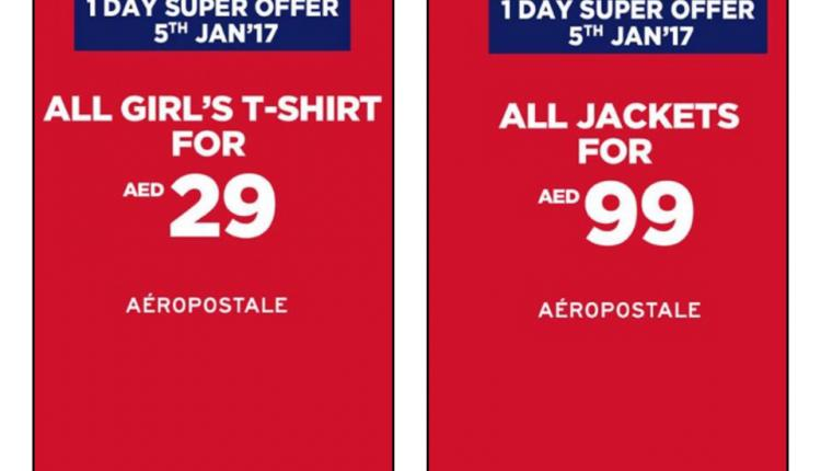 Special Offer at Aeropostale, January 2018