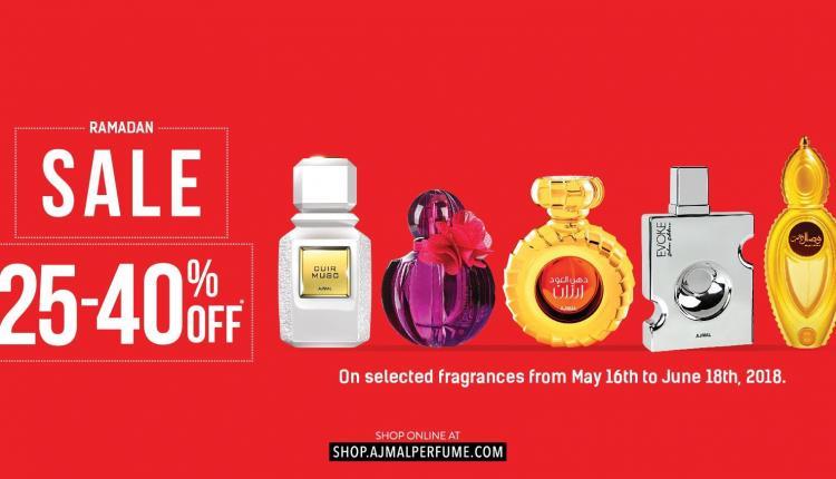 25% - 40% Sale at Ajmal Perfumes, June 2018