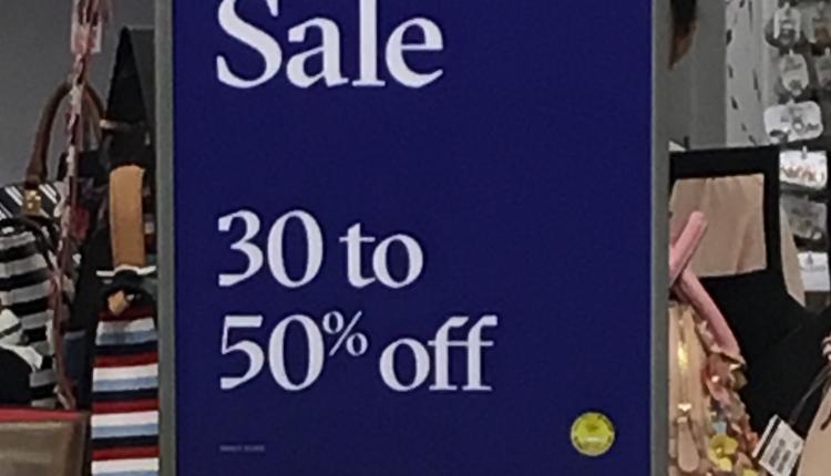 30% - 50% Sale at Aldo Accessories, April 2017