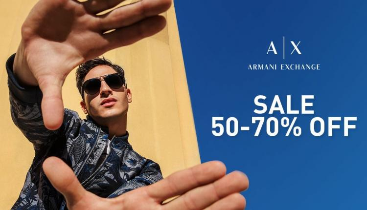 50% - 70% Sale at Armani Exchange, August 2018