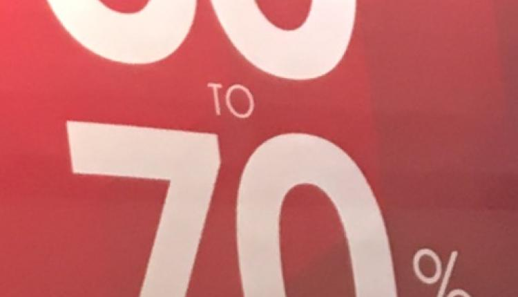 30% - 70% Sale at The Athlete's Foot, April 2017