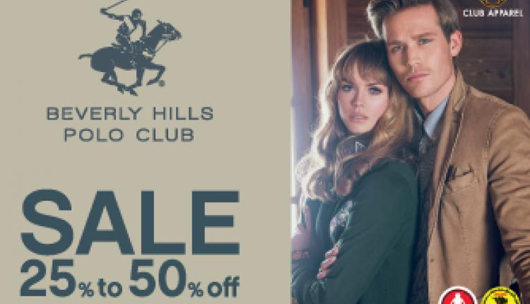 25% - 50% Sale at Beverly Hills Polo Club, April 2017
