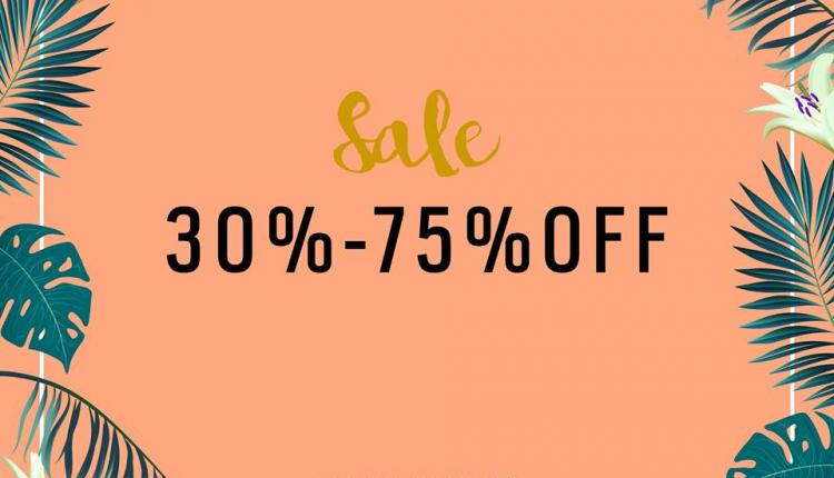 30% - 75% Sale at Beyond The Beach, August 2017