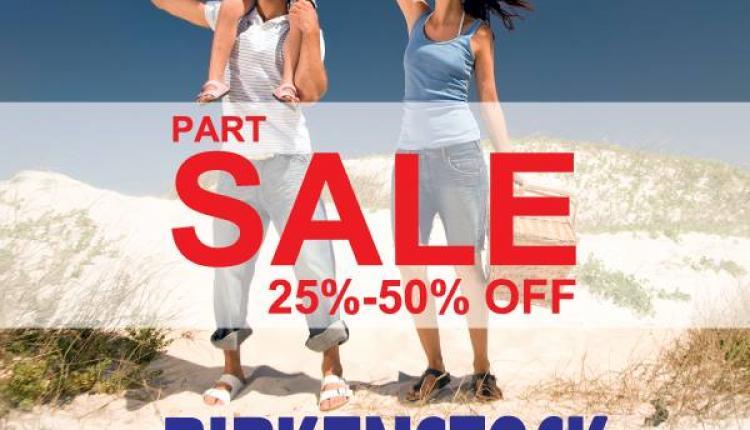 25% - 50% Sale at Birkenstock, June 2014