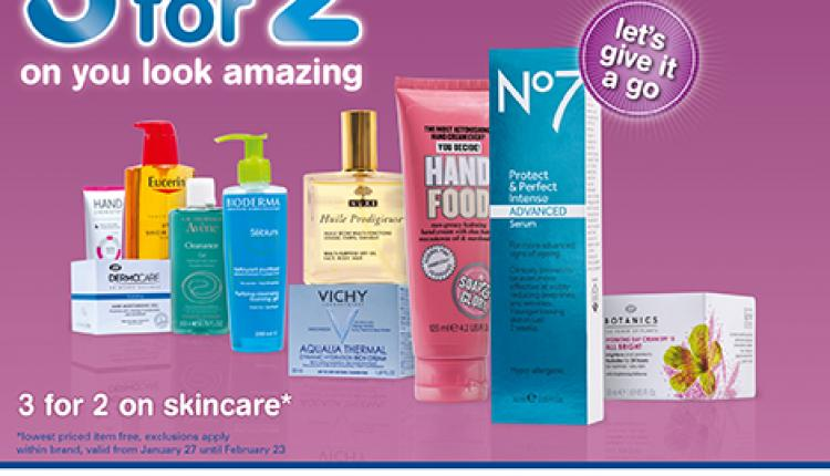 Buy 2 and get 1 Offer at Boots Pharmacy, February 2015