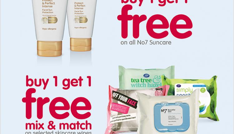 Buy 1 and get 1 Offer at Boots Pharmacy, June 2017