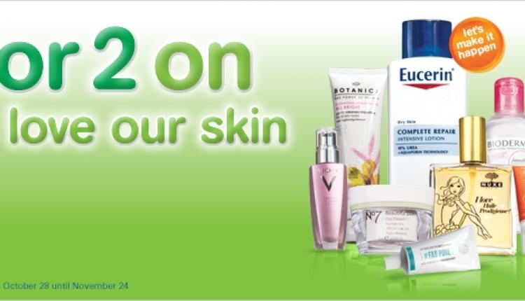 Buy 2 and get 1 Offer at Boots Pharmacy, October 2017