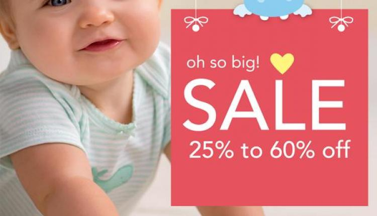 25% - 60% Sale at Carter's, August 2014