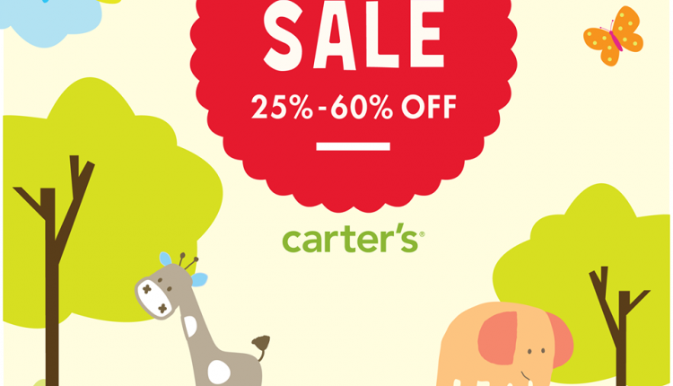 25% - 60% Sale at Carter's, December 2016