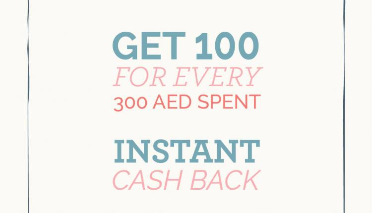 Spend 300 and enjoy an instant AED 100 cashback Offer at Cath kidston, May 2017