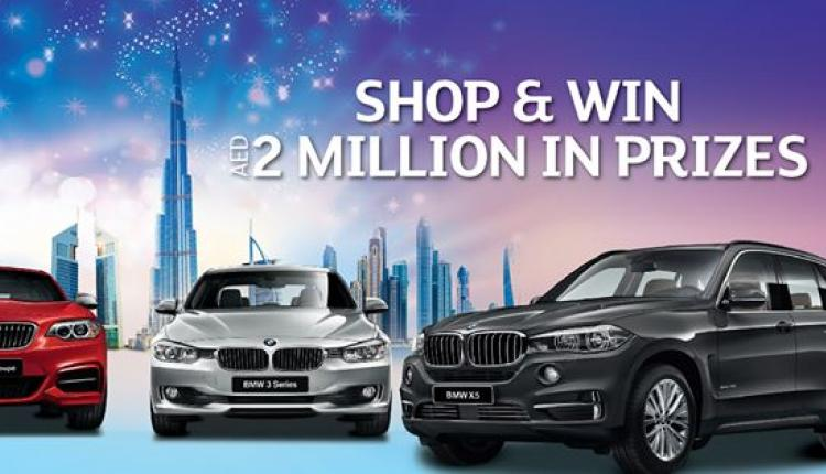 Spend 200 and win 6 BMW's + AED 500,000 in instant shopping vouchers Offer at Century Mall, September 2014