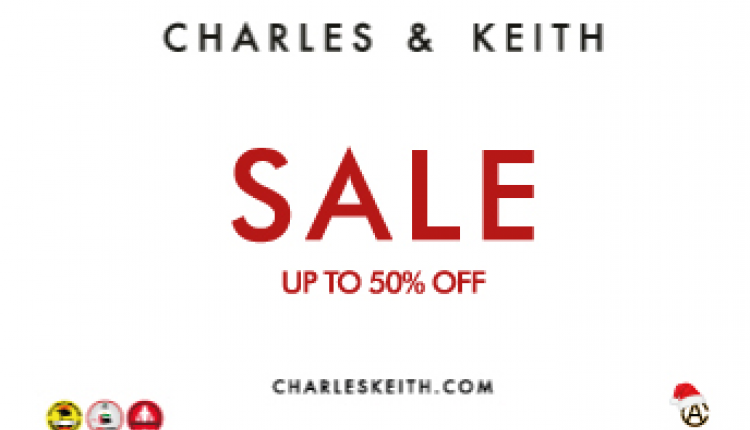 Up to 50% Sale at Charles & Keith, September 2017