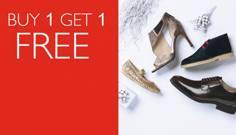 Buy 1 and get 1 Offer at Clarks, May 2018