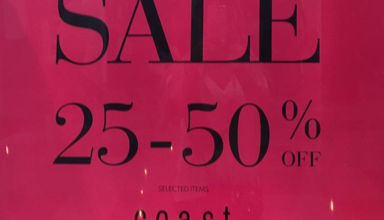 25% - 50% Sale at Coast, April 2017
