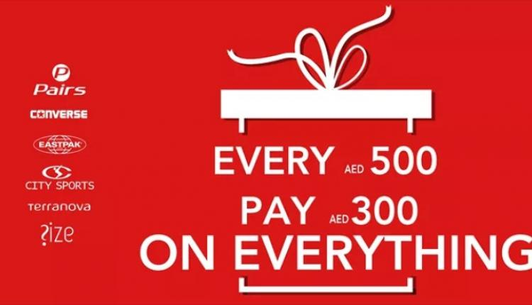 Spend 500 and pay AED 300 only Offer at Converse, April 2018
