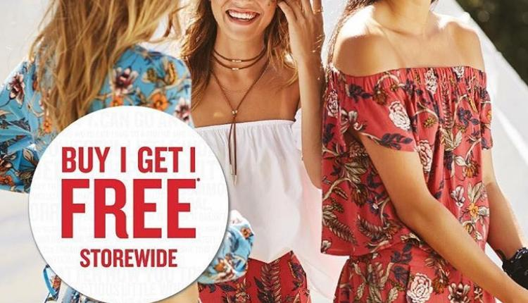 Buy 1 and get 1 Offer at Cotton On, May 2018