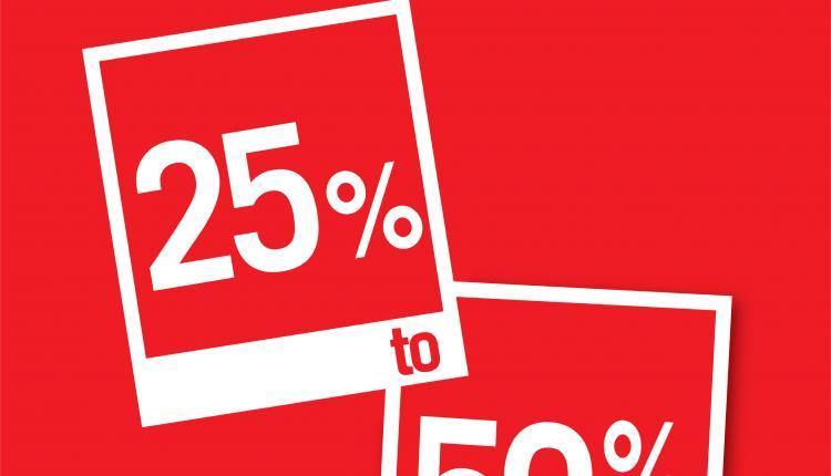 25% - 50% Sale at Debenhams, February 2015