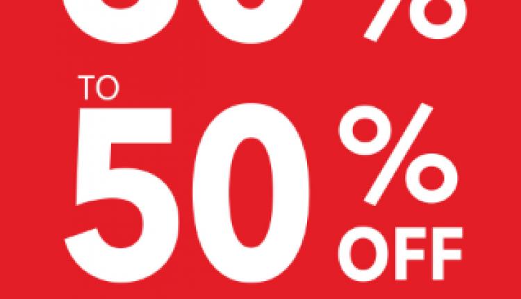 30% - 50% Sale at Debenhams, January 2017