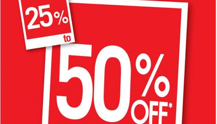 25% - 50% Sale at Debenhams, April 2017
