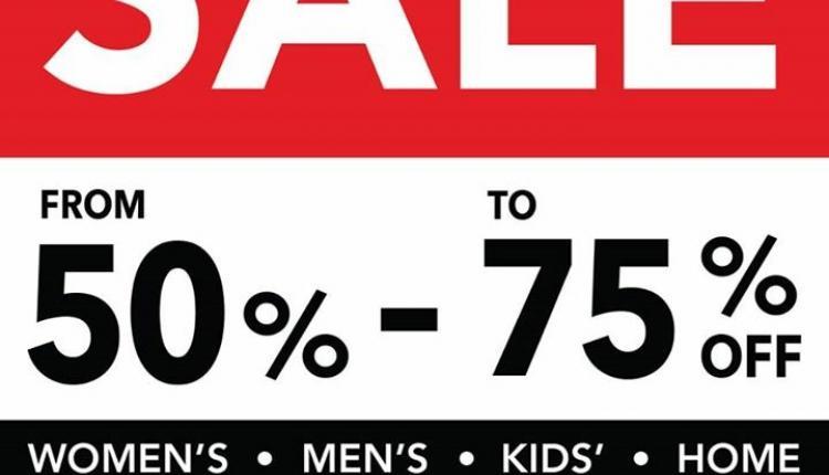 50% - 75% Sale at Debenhams, November 2017