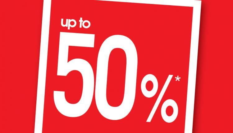 25% - 50% Sale at Debenhams, January 2018