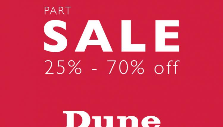 25% - 70% Sale at Dune, February 2015