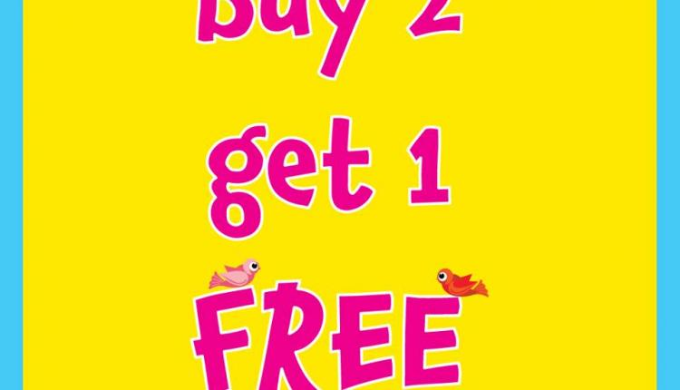 Buy 2 and get 1 Offer at Early Learning Centre, April 2017