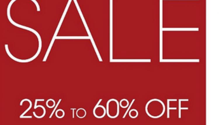 25% - 60% Sale at Ecco, December 2017