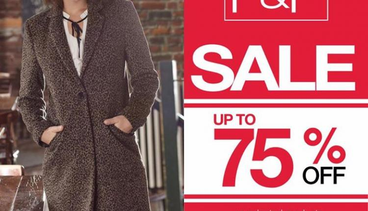 Up to 75% Sale at F & F, January 2017