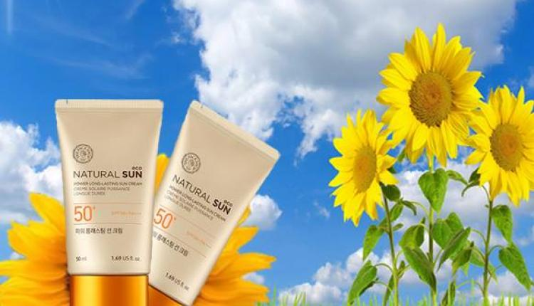 Buy 1 and get 2nd half price on Natural Sun cream. Offer at The Face Shop, May 2017