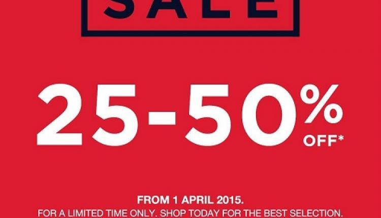 25% - 50% Sale at Gap, April 2016