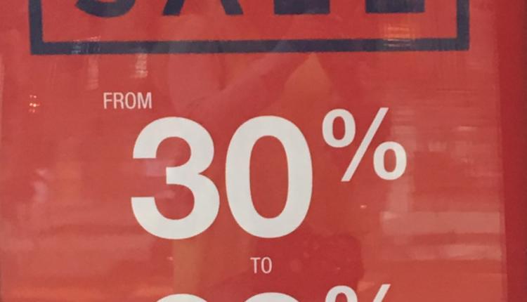 30% - 60% Sale at Gap, April 2017