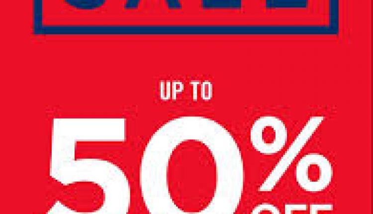 30% - 50% Sale at Gap, April 2018