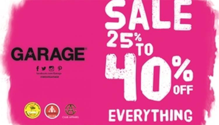 25% - 40% Sale at Garage, November 2015