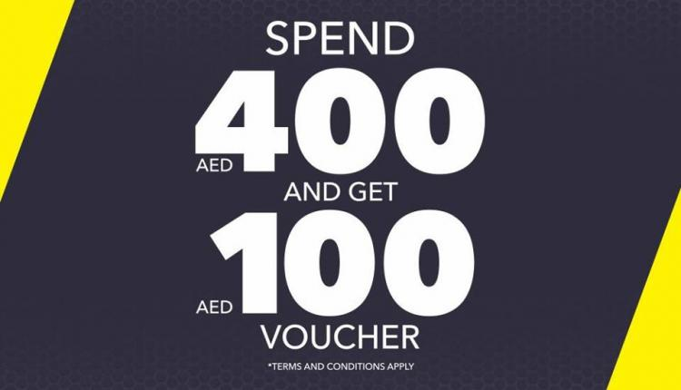 Spend 400 and get a AED 100 voucher Offer at Go Sport, October 2017