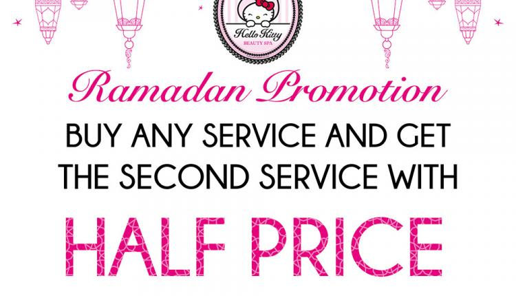 Buy 1 and get the second service with half price Offer at Hello Kitty Beauty Spa, June 2017