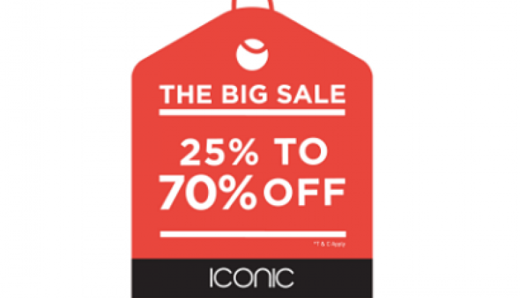 25% - 70% Sale at ICONIC, January 2017