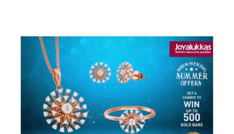 Spend 500 nd get 1 raffle coupon for gold jewellery purchase and 2 coupons for diamond jewellery purchase Offer at Joyalukkas, August 2018