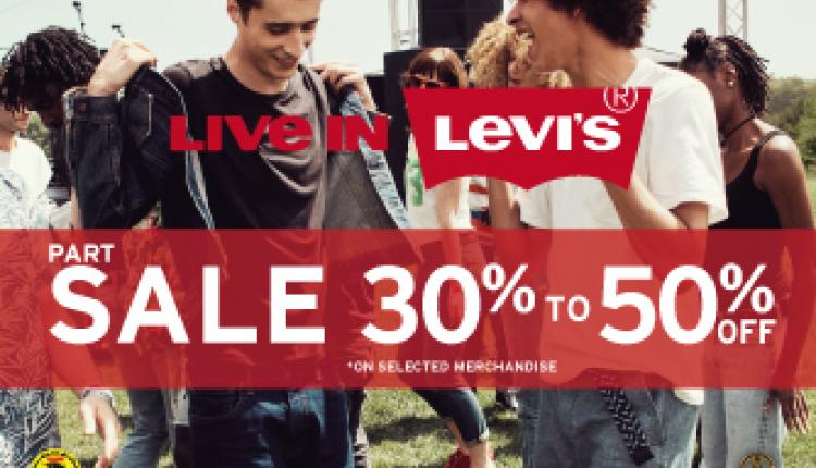 30% - 50% Sale at Levi's, August 2017