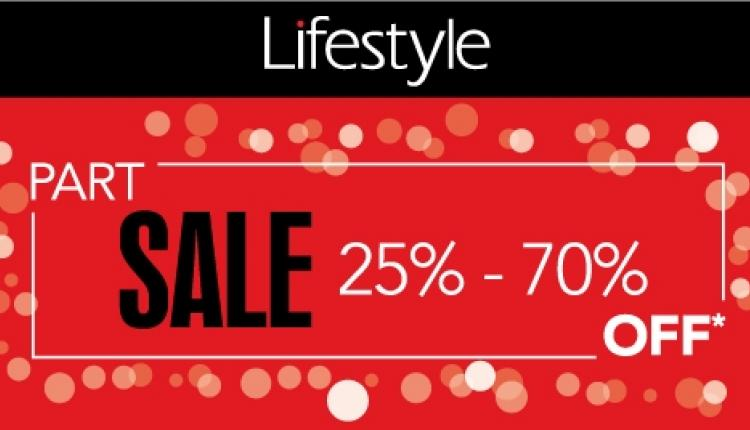 25% - 70% Sale at Lifestyle, May 2017