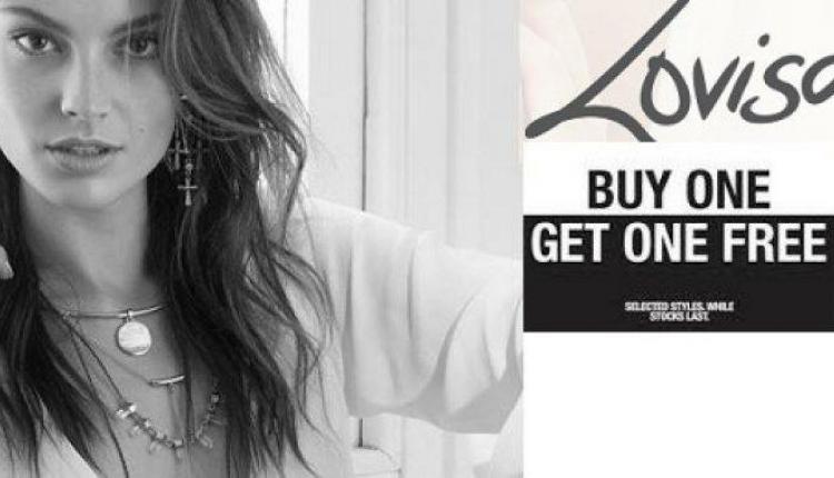 Buy 1 and get 1 Offer at lovisa, June 2017
