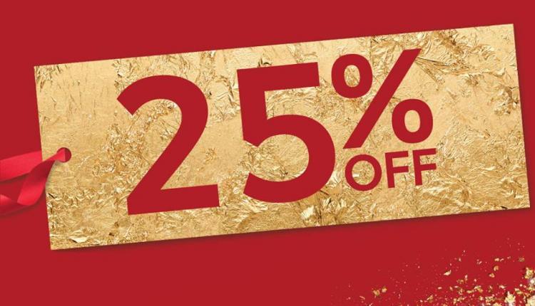Up to 25% Sale at Marks & Spencer, December 2015