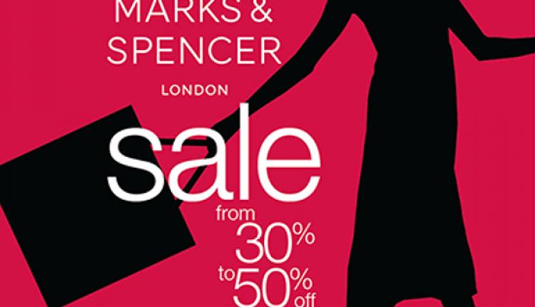 30% - 50% Sale at Marks & Spencer, October 2017