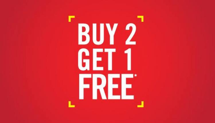 Buy 2 and get 1 Offer at Max, December 2017