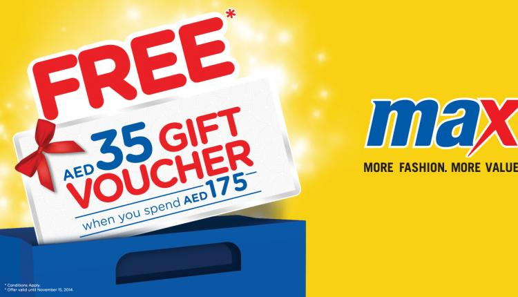 Spend 175 35 gift voucher Offer at Max, November 2014