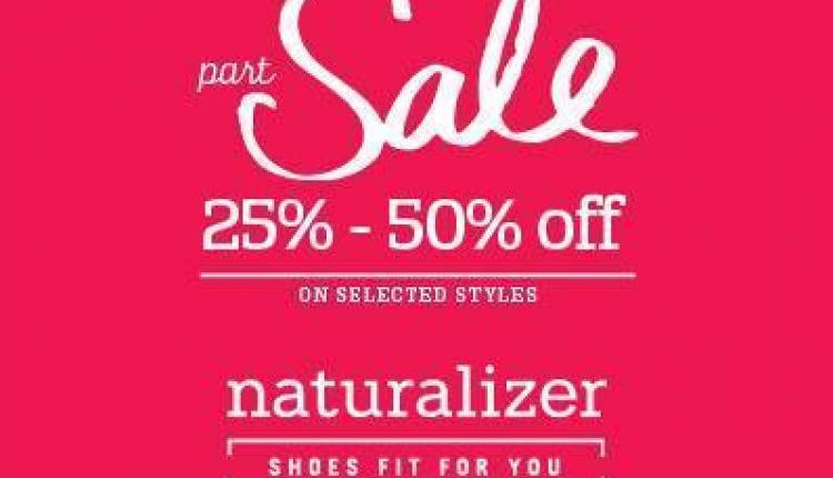 25% - 50% Sale at Naturalizer, November 2014